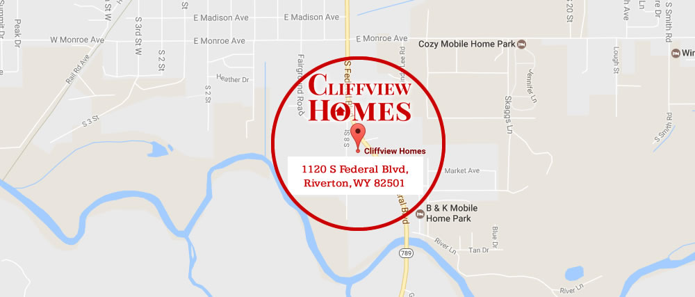 Cliffview Homes Location in Riverton, Wyoming